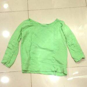 J. Crew sz s lime green terry cloth 3/4 sweatshirt